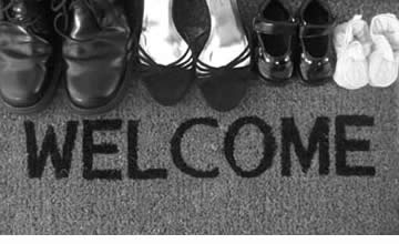photo of welcome mat